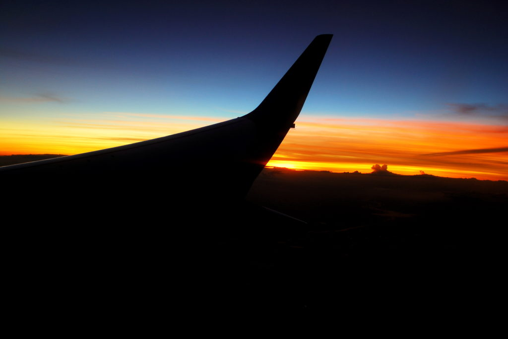 Gliding into the sunset