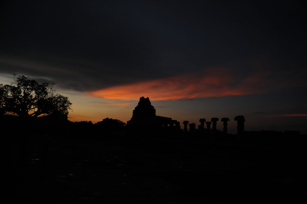 Sunset over Hampi, Karnataka India