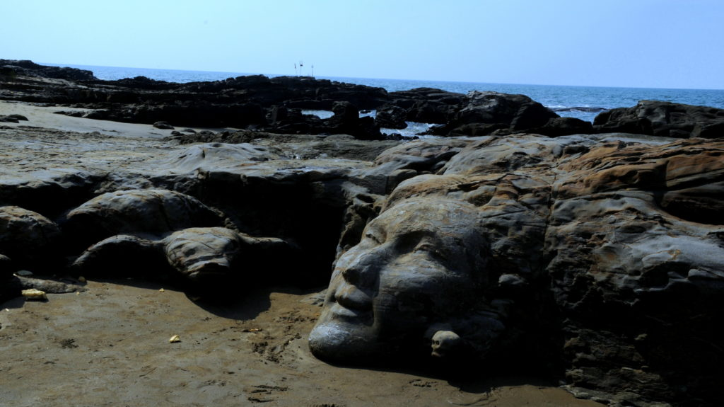 Shiva on ROcks,Vagator Beach,GOA INdia..